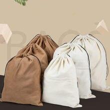 Saco de armazenamento de cordão de viagem de camurça saco de organizador para roupa interior brinquedo bolsa de armazenamento
