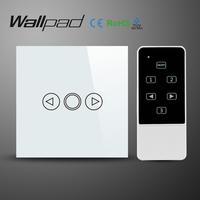 Wallpad EU UK Standard Wireless Remote Control Wall Dimmer Touch Switch Crystal Glass White Wifi Dimmer