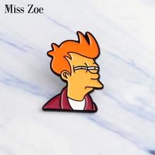 Мисс Зое из комиксов Futurama Philip J. Фрай нагрудные знаки значки джинсовая куртка булавка рубашка с пряжкой значок Мода значок подарок для детей