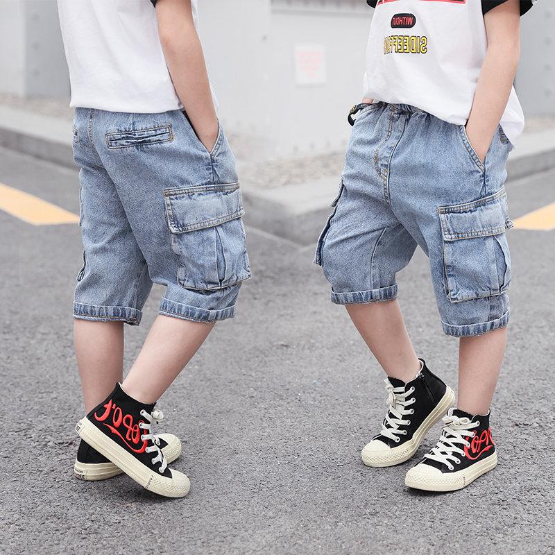 meninos calcas de brim curtas verao criancas 01