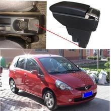 Бесплатная доставка автомобиля подлокотник магазин контент коробка для хранения для honda fit jazz hatchback 2004 2005 2006 2007 2008