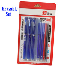 DELVTCH 0.5mm Erasable Gel Pen Suit Blue/Black/Red Ink Magic Erasable Refill and Pens For School Office Writing Tool Stationery 0 38mm erasable pen suit gel pen blue black erasable refills and pens set for school office writing tools student stationery
