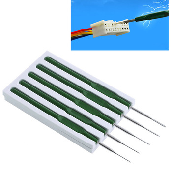 New 5 Pcs/Set Car Wire Terminal Socket Pin Removal Dismount Tool Maintenance Titanium Alloy image