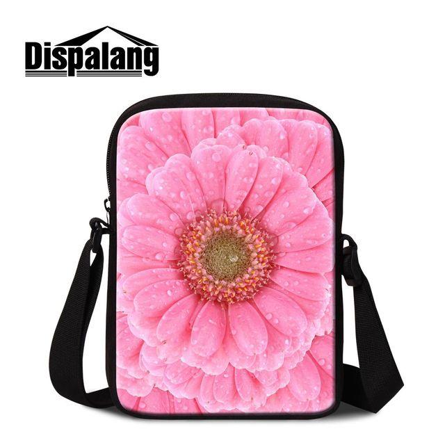 Dispalang Female Crossbody Shoulder Bag Children Satchel Travel Bag Floral  Flower Pattern Small Messenger Bag Spanish Casual Bag 6d793dffd00a8