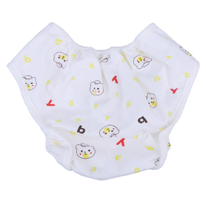 Baby Cartoon Cotton Diaper Printed Anti Leakage Washable Infant Cloth Diapers Newborn Nappy for 12kg to 16kg