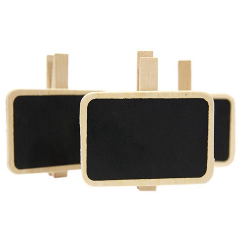 6pcs/set Mini Peg Wooden Black Chalk Board Clip Holder Clamps Mark Memo Note Blackboard Countdown Writing Painting Chalkboard