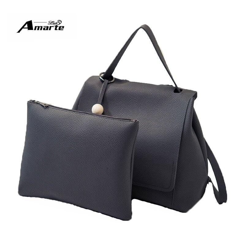 Amarte Brand 2pcs set Women Backpack Fresh School Backpacks font b For b font Teenage font