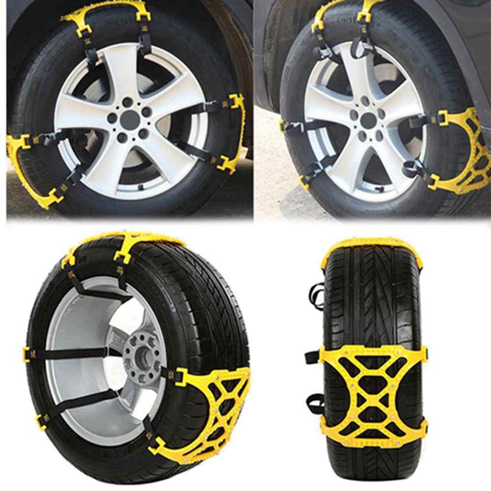где купить  6pcs/Set Universal Thickening Car Tire Snow Chains Adjustable Anti-Skid Chains Safety Chains Double Snap Skid Wheel Chains  по лучшей цене