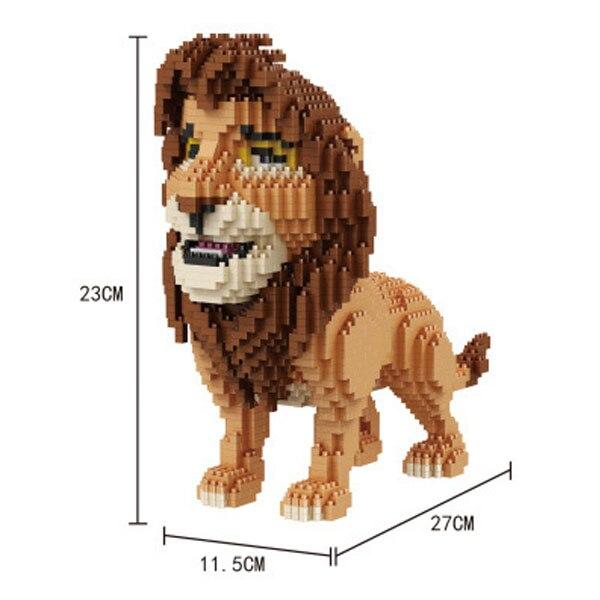Ostatni!!!!! balody małe bloki Cartoon Model Simba aukcja figurki cegły król lew dla dzieci boże narodzenie prezenty chłopiec prezent w Klocki od Zabawki i hobby na  Grupa 1