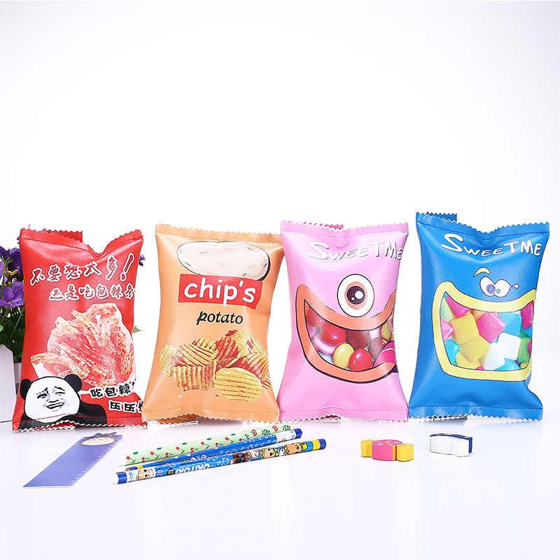 Chip baru Pensil Untuk Perlengkapan Sekolah Sekolah Kawaii Stationery Kotak Pensil Kotak Pensil Tas pensil