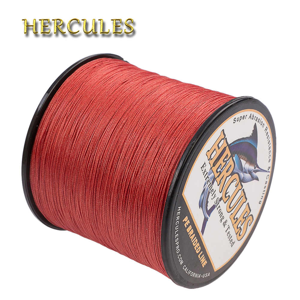 Hercules Braided Fishing Line For Carp Fishing 10-300LB PE 8 Strands Multifilament 100M-2000M Red Pesca Cord Extreme Strong Wire