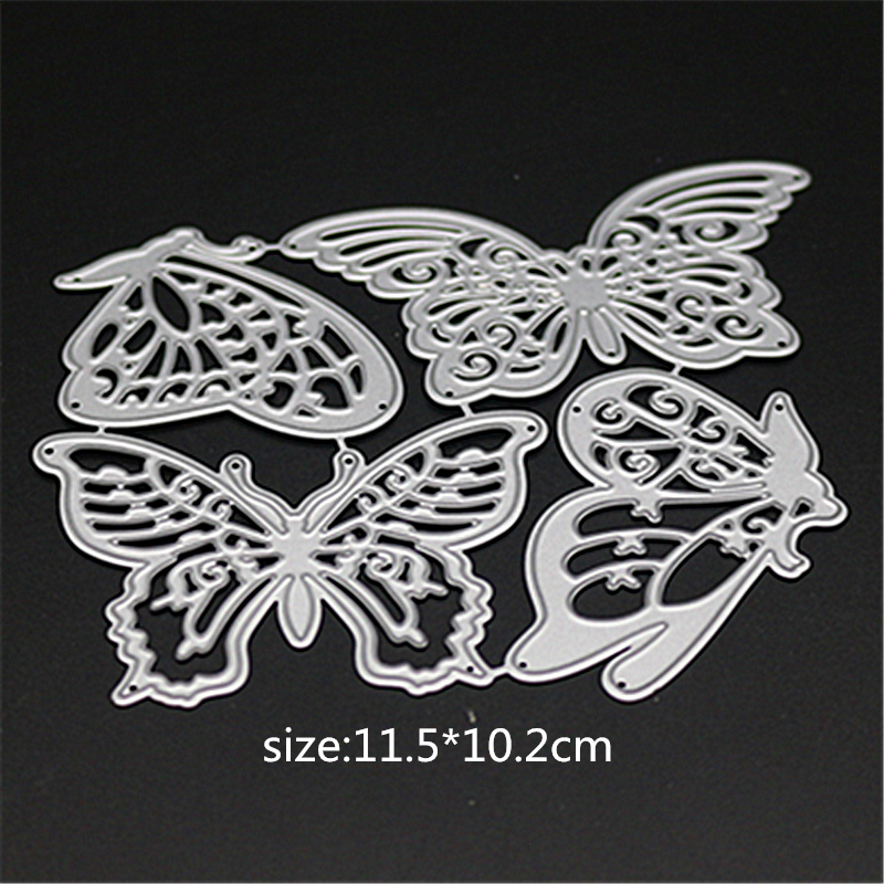 AZSG Hollow Butterflies Cutting Dies for Scrapbooking Photo Album Embossing DIY Paper Cards Making Decorative Stencil Craft in Cutting Dies from Home Garden