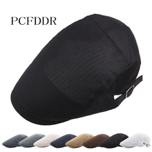 PCFDDR Mesh Hat Summer Man's Pure Color Duck Tongue Hat Outdoor Sunshade Sunscreen Breathable Thin