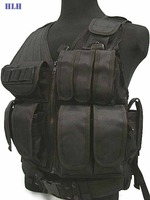 High Quality Military 1000D SWAT US SWAT Airsoft Tactical Hunting Combat Vest BK Free Ship
