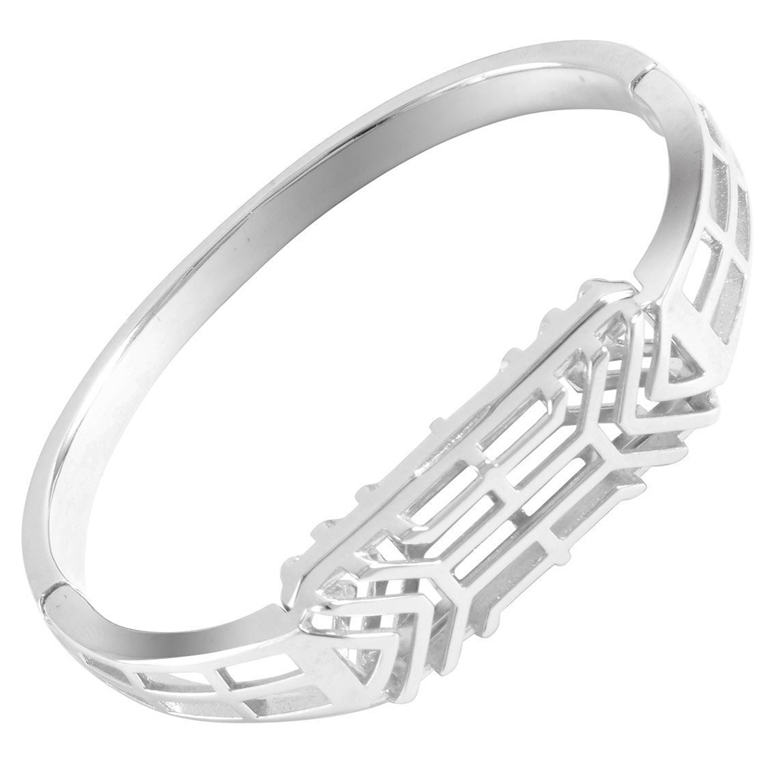 Alloy Bangle Watch Bands for Fitbit Flex 2, All New Hollow-out Crafts Design Bracelet Band for Flex 2