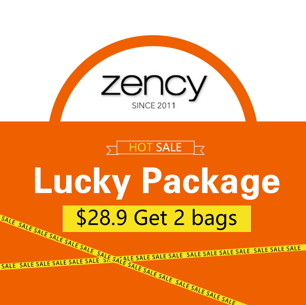 Zency Lucky Package Get 2 bags randomly by place one order Only 13 pieces men bags available Do not allow to return and change