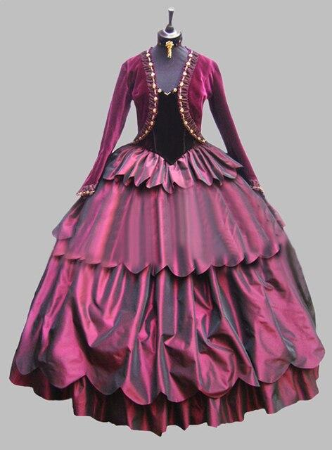 deluxe violet de l 39 poque victorienne robe carnaval de venise costume femmes de robe southern. Black Bedroom Furniture Sets. Home Design Ideas