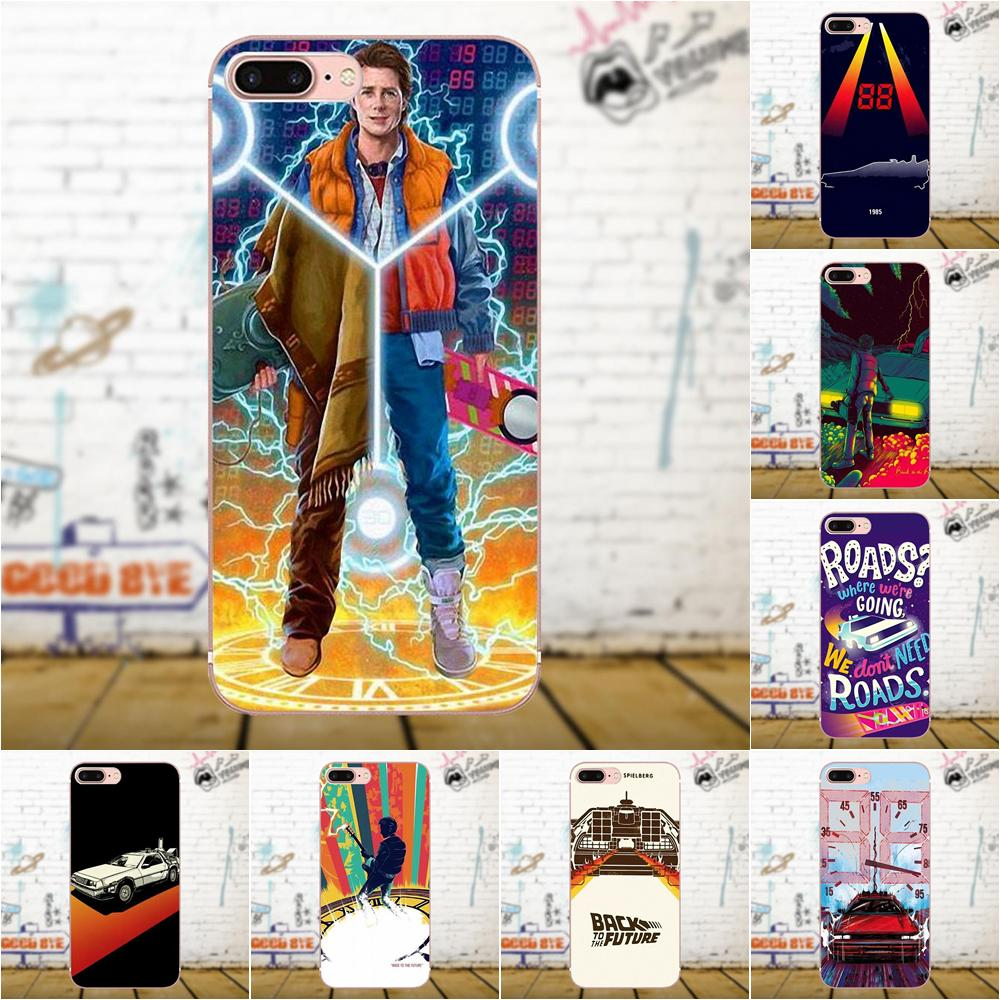 Oedmeb Soft TPU Printing For Galaxy A3 A5 A7 J1 J3 J5 J7 2016 2017 S5 S6 S7 S8 S9 edge Plus Back To The Future