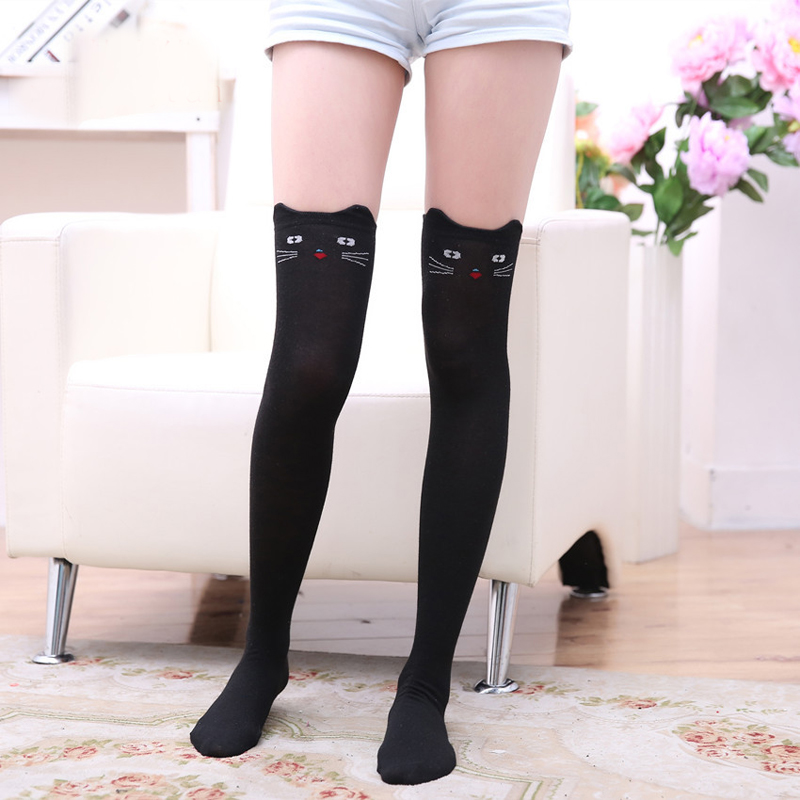Woman Girl 3D Cat Pattern Women's Stocking Sexy Warm Thigh High Over The Knee Sox Long Pantyhose Stockings Tights
