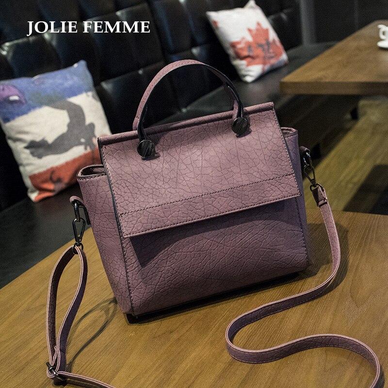New Arrival Vintage Trapeze Tote Bags Women Leather Handbags Ladies Retro Should