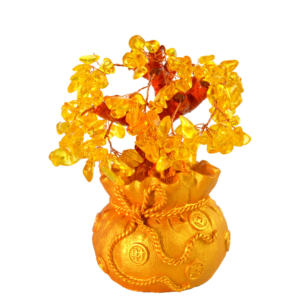 Fengshui citrine crystal gem money tree with chinese coins pot for fengshui citrine crystal gem money tree with chinese coins pot for wealth j2235 in figurines miniatures from home garden on aliexpress alibaba reviewsmspy