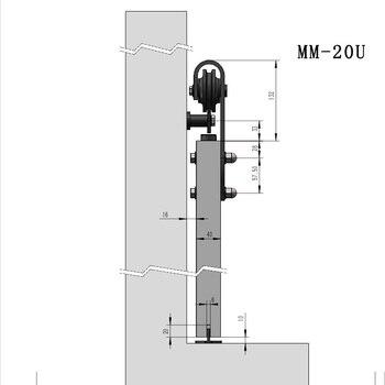 Barn Door Rollers | Barn Door Hanging Rail American Kitchen Hardware Sliding Door Track Full Set Of Accessories Partition Door Roller Rail Indoor