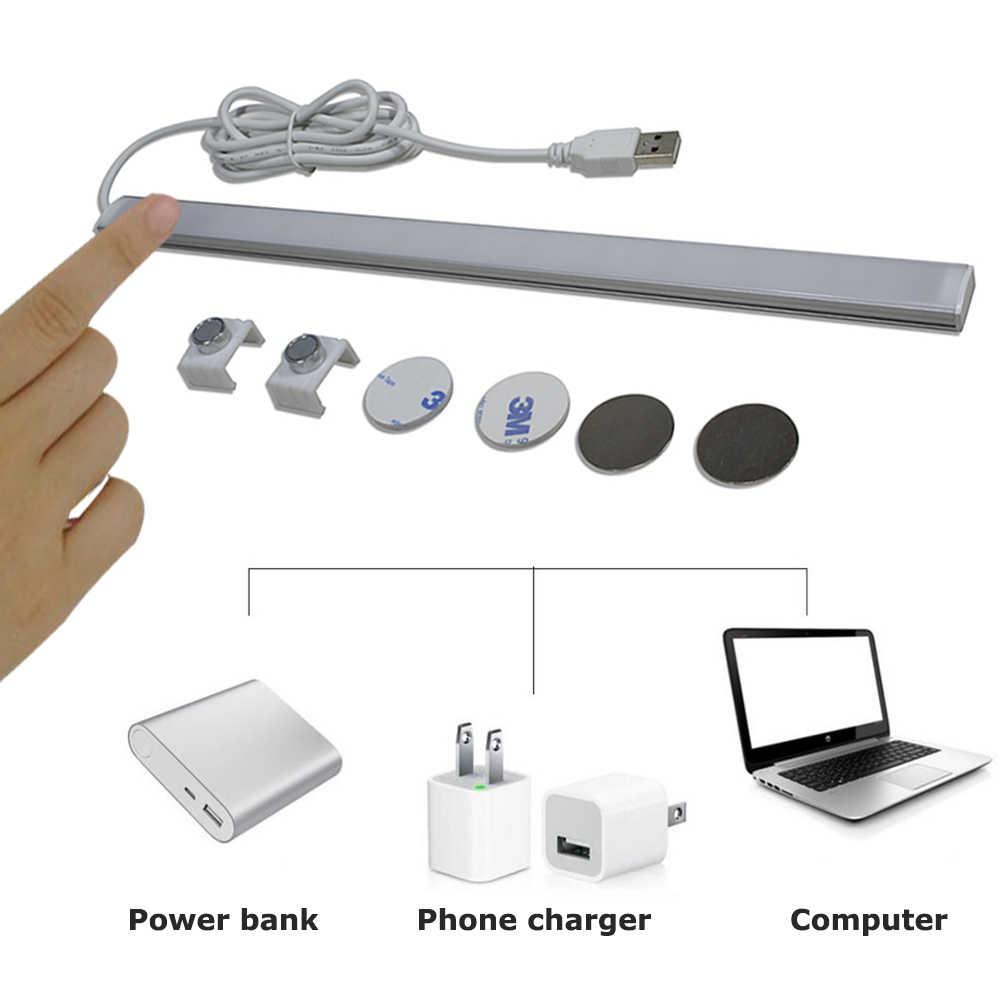 Сенсорный датчик USB Светодиодная лента лампа 2835 DC5V 30 см USB светодиодный трубка жесткая полоса лампочка бар настольная лампа для чтения для ночного света