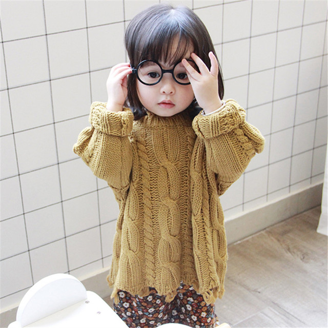 2018 Warm Baby Children Boys And Girls Cotton Winter Long Sleeve Sweater Babes Thick Knitting Pattern