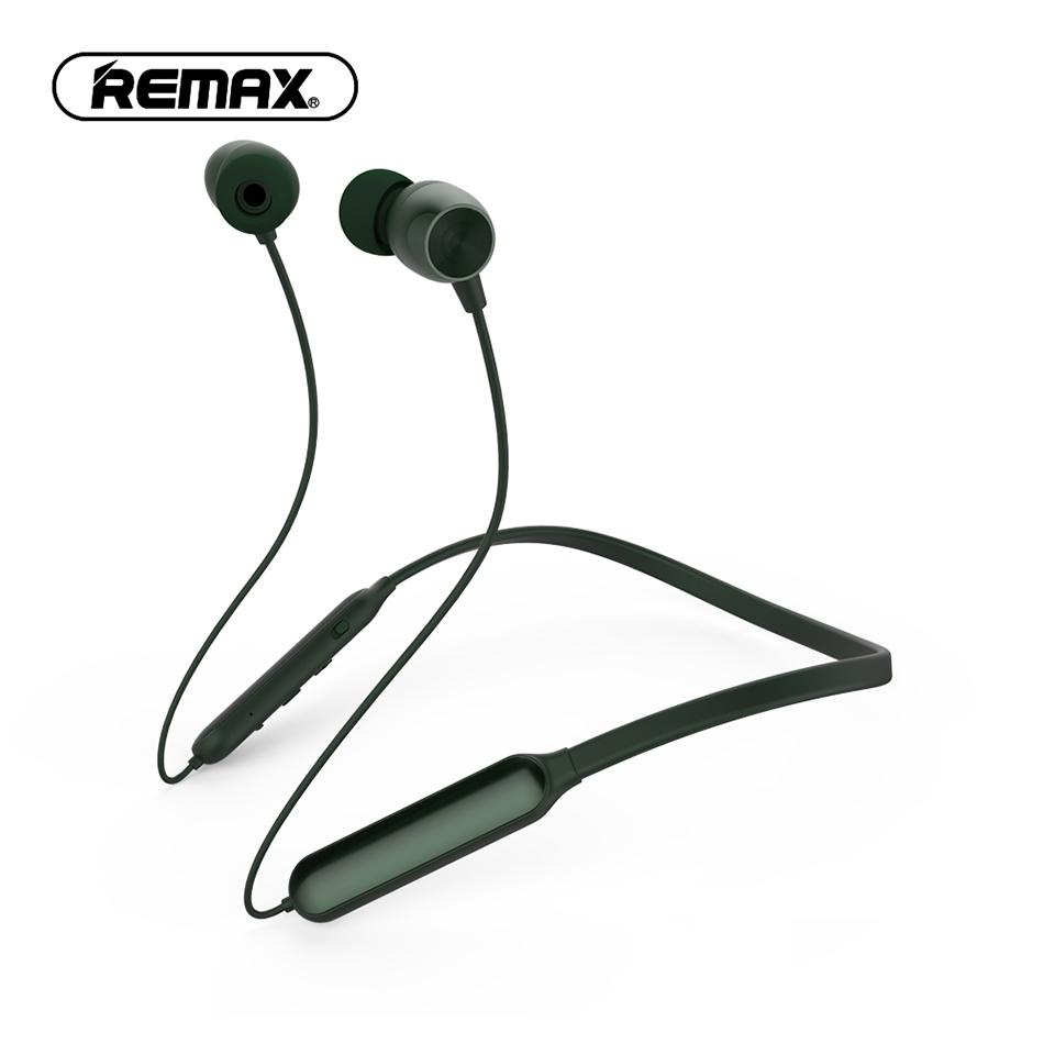 REMAX Wireless Bluetooth Sport Earphone V4.1 in-ear Neckband Earbud with Microphone Noise Cancelling earphone for Mobile Phone bluetooth v4 1 wireless sport running earphone stereo in ear magnet earbud with microphone earphone for iphone sumsang xiaomi
