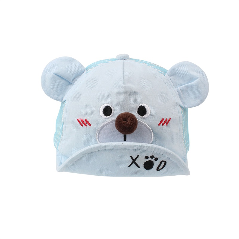 Cartoon Bear Baby Cap Summer Cotton Mesh Cap Boys Girls Sun Cap Cute Ears  Soft Baby Hat Embroidery Toddler Hat Baby Boy Clothing-in Hats   Caps from  Mother ... 5b772da1f5a4