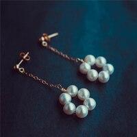 Customize 5A Pearl Tassel Earrings14K Gold Filling Handmade Brincos Vintage Jewelry Not Fade Party Pendientes Earrings Oorbellen
