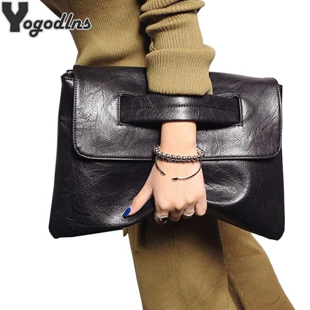Vintage Soft Leather Shoulder Bag Female Small Handbags Bags For Women  Postman Package Crossbody Bag Black 84d12b85915c3