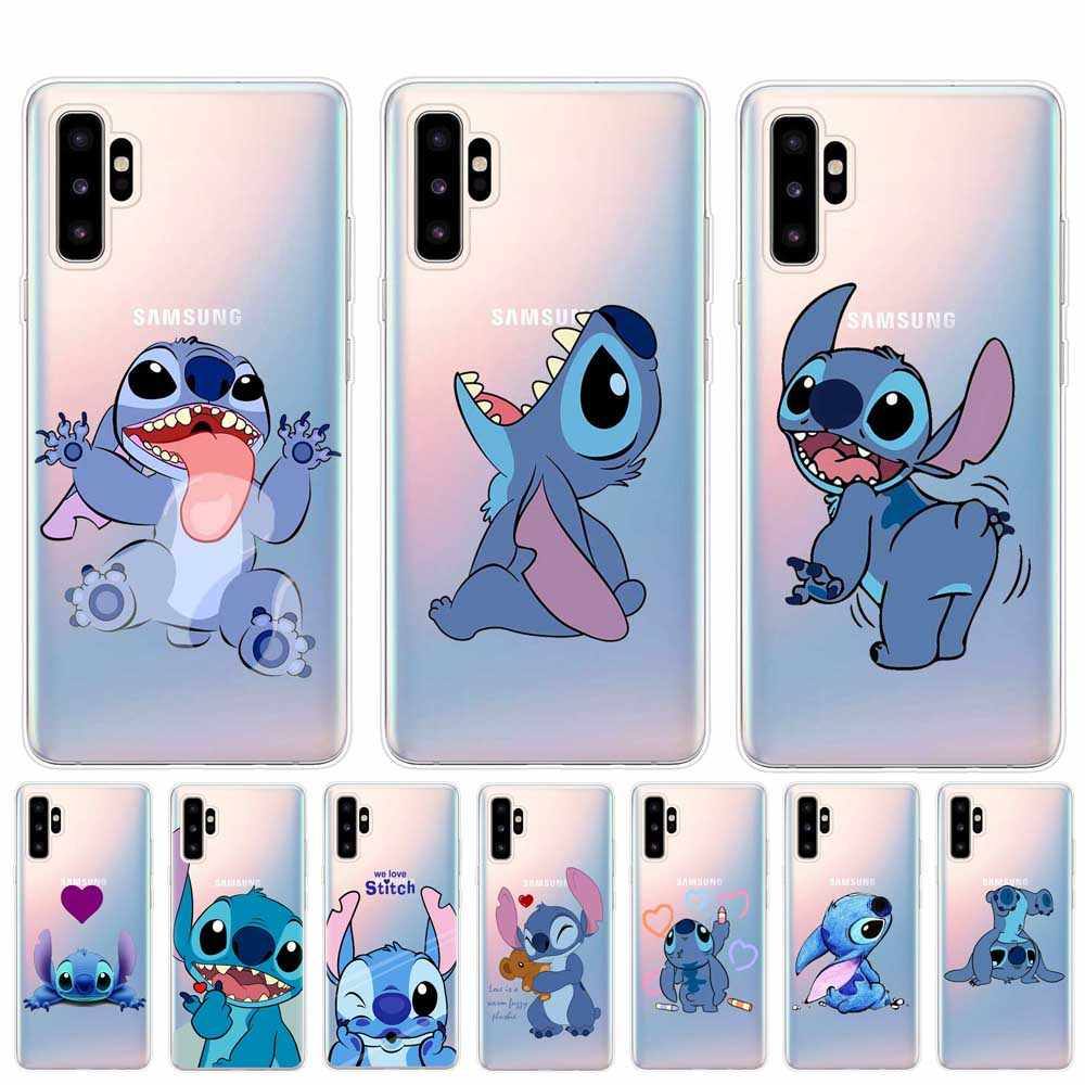 Funny Cartoon Stitch Phone Case For Coque Samsung Galaxy Note 10 Pro Clear Silicone Back Cover For Samsung Note 10 Soft TPU Case