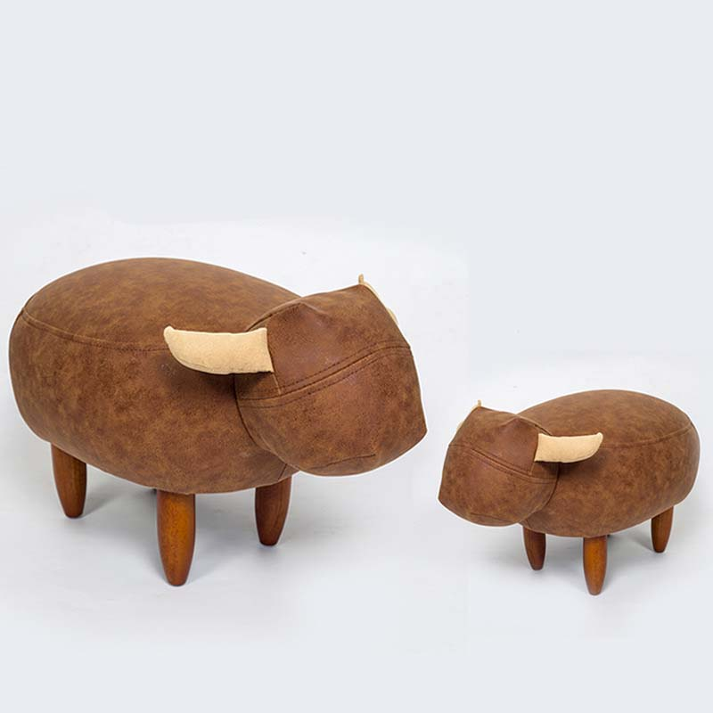 Chpermore Cute Animal Stools Sheep Hippo Children Ottomans Kindergarten Kids Shoe Bench Multifunction Simple Chair Living Room Furniture
