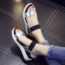 78eaa93515bbe2 2018 New Hot Sale Sandals Women Summer Slip On Shoes Peep-toe Flat Shoes  Roman Sandals Mujer Sandalias Ladies Flip Flops Sandal