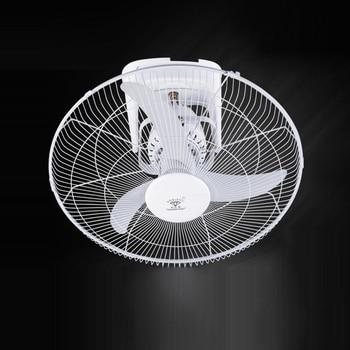 Ventilador de techo de hierro de 3 hojas, ventilador de refrigeración, ventilador de techo eléctrico silencioso blanco, ventilador de techo doméstico con control de pared