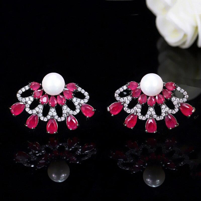 Ruby Red Stud Earrings1