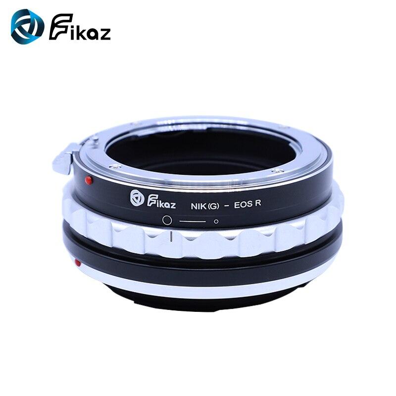 Fikaz pour AI (G)-bague d'adaptation pour monture d'objectif EOS R pour objectif Nikon F AI G vers caméra de montage Canon EOS R RF