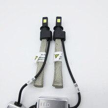 2 unids/par H3 LED 60 W 6400LM Bombillas COB 6000 K blanco puro 9 V-30 V de Refrigeración cinturón proyecto