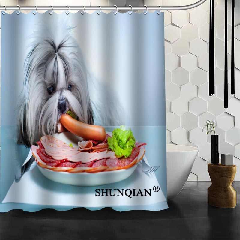 Dog Vòi Hoa Sen Rèm Phòng Tắm Chất Lượng Cao sản phẩm Cá Nhân Hoá Tùy Chỉnh Vải Tắm Rèm