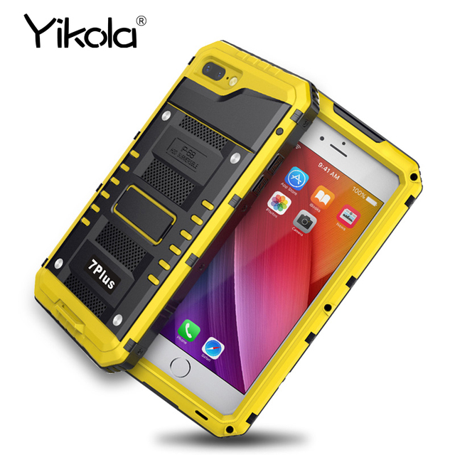 huge selection of bc162 19e54 US $22.74 |Yikolal Aluminum Armor Case water phone ring universal 360 Anti  knock back cover for iPhone 7 plus unique and sport design Case -in ...