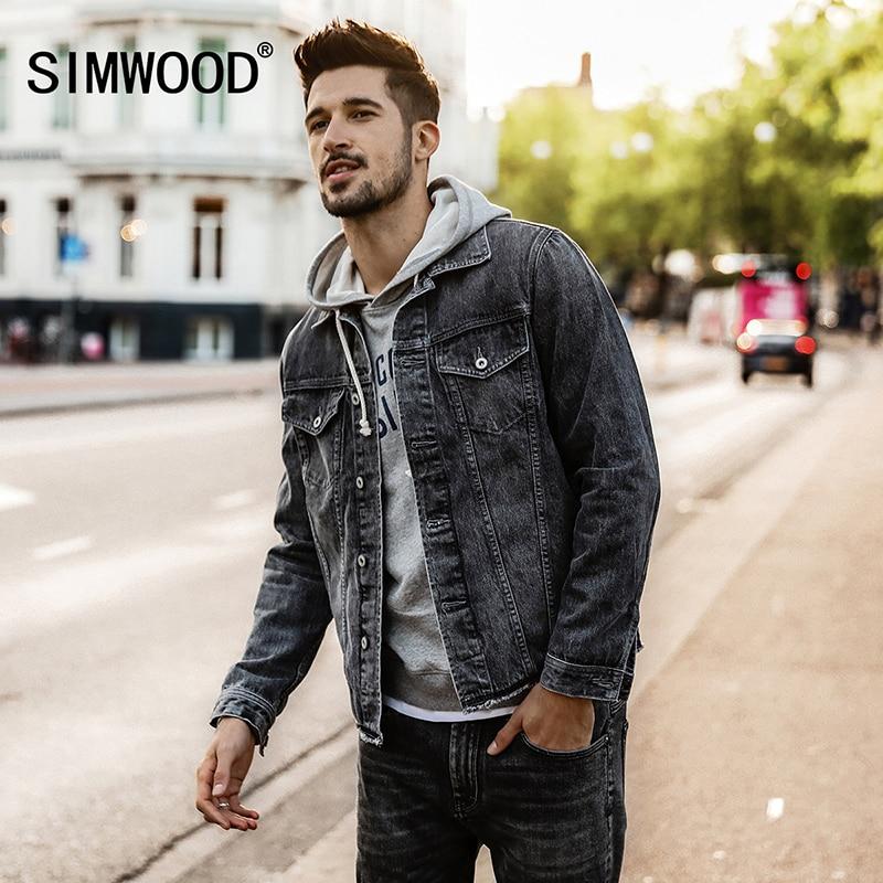 SIMWOOD 2018 Spring Winter NEW Denim Jacket Men Slim Fit Fashion Plus Size Jeans Jacket Men ...