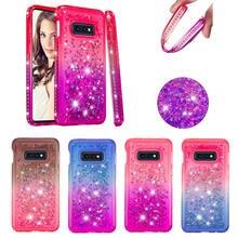 For Samsung Galaxy S10 Plus Case Rhinestone Diamond Bling Liquid Quicksand Soft Silicone phone cases for Lite S10E