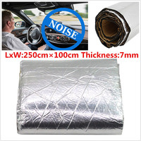 1 2 5M 7mm Car Sound Insulation Proofing Deadener Heat Noise Control Dampening Shield Insulation Firewall