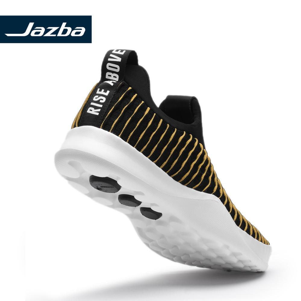 Jazba LEHAR Dual Tone Knitted Slip On Shoe Men Athleisure Light Soft Outdoor Sneakers Lightweight Breathable Running Shoes in Running Shoes from Sports Entertainment