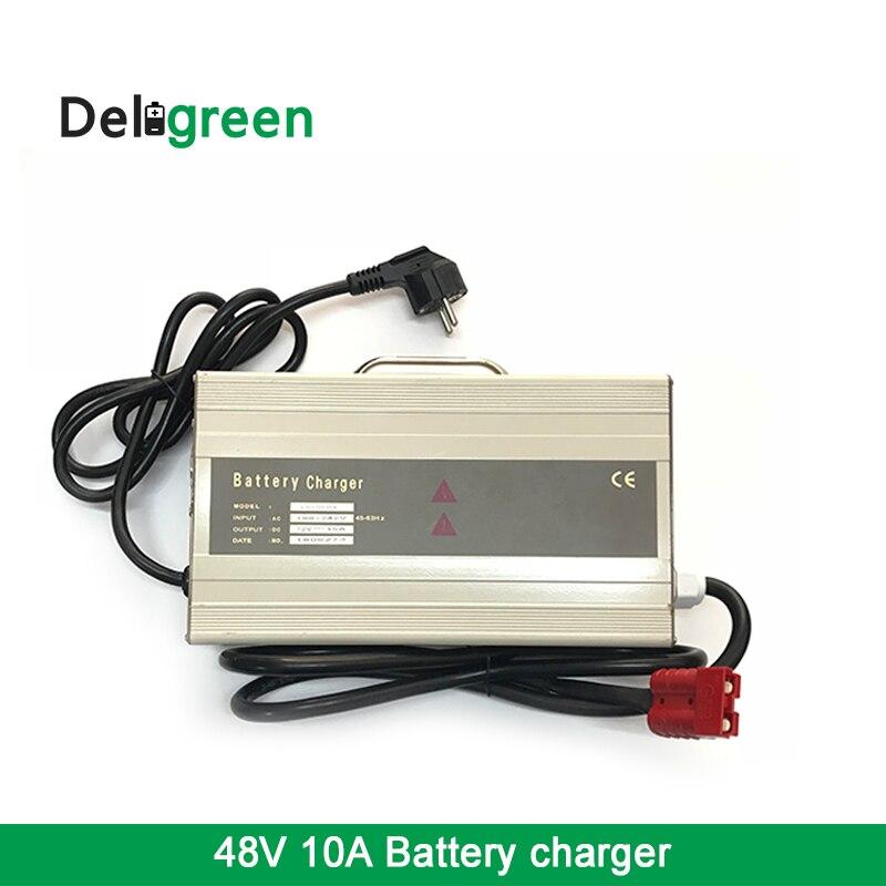 48V10A chargeur pour lithium et batteries au plomb acide piles batteries