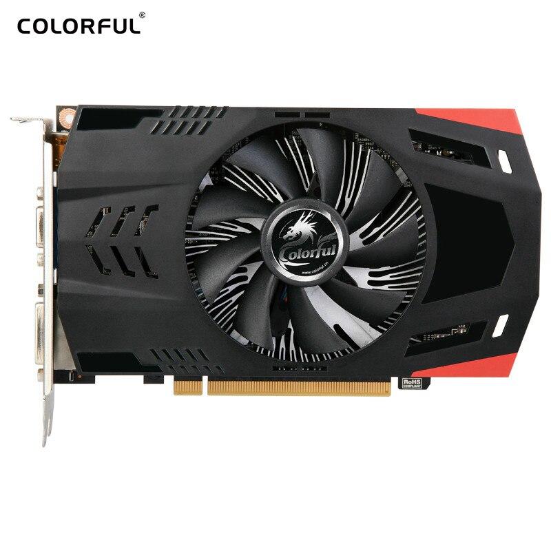 Carte graphique colorée GT GeForce 730 K 2GD5 GDDR5 ventilateur 902 MHz pas cher carte vidéo HDMI VGA DVI Hynix mémoire CUDA cœurs