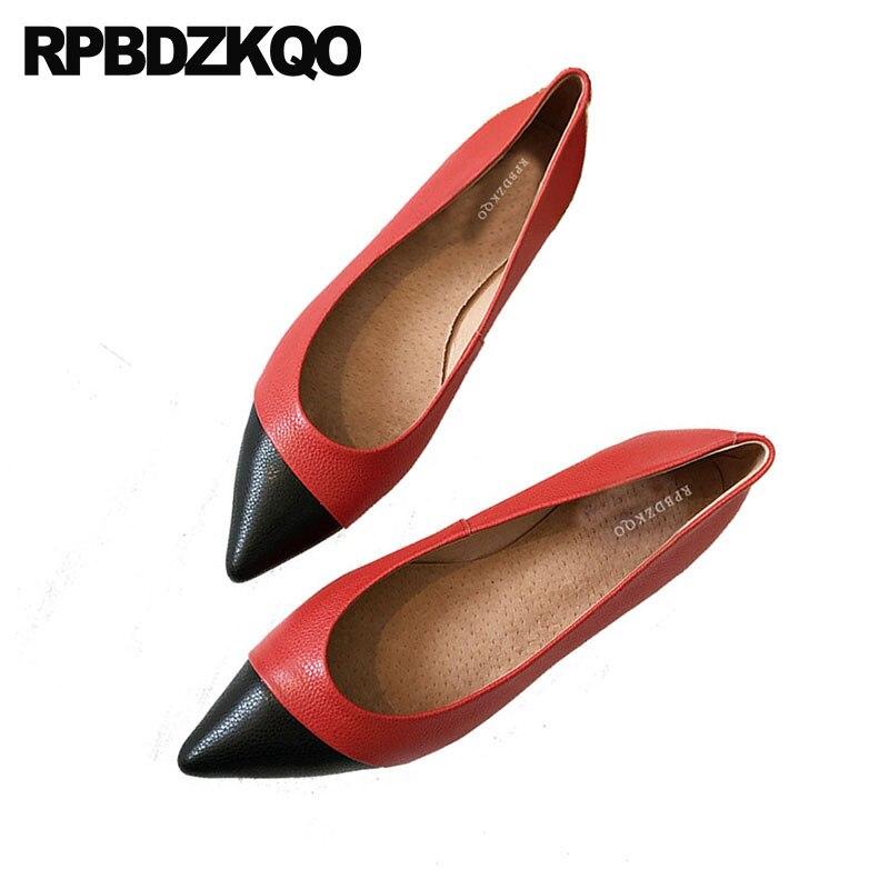 China Del Negro Resbalón Ladies De Italiano Hermosos Chino Comfy Zapatos Rojo Fábrica Pisos Dedo Pie 2018 Diseñador Vestido Blanco Punta Trabajo Directa En YaEBqB
