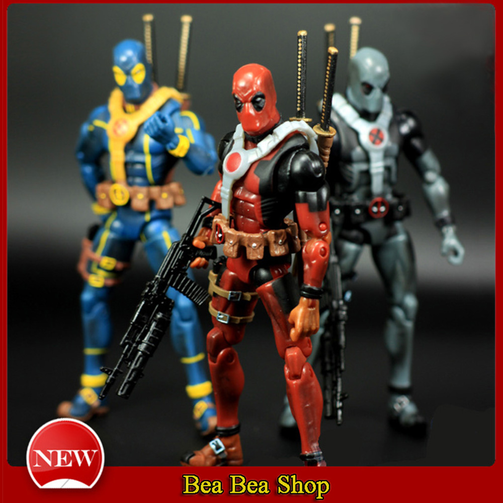 6 17cm PVC The Avengers Super Hero Justice league X-MAN Deadpool Action Figure toys Coll ...