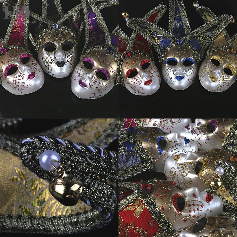 H D 6pcs Set Multi Color Mini Mardi Gras Joker Masquerades Venetian Masks Party Decor Accessory Party Favors in Party DIY Decorations from Home Garden
